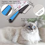 Flea Comb,Pet Comb Laiannwell Professional Grooming Comb for Dog/Cat/Small Pets (3 Packs) 7