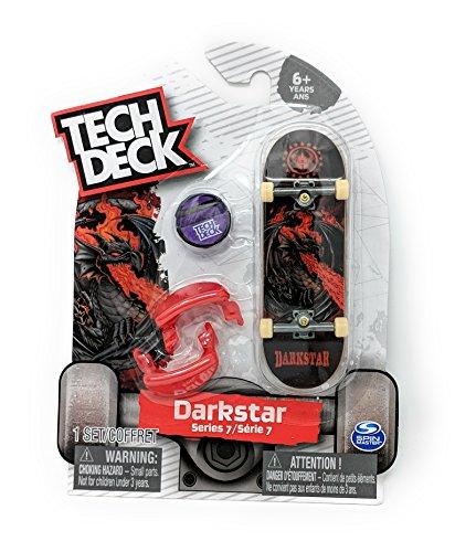 Tech Deck DARKSTAR Series 7 Fire Breathing Dragon Fingerboard Skateboard Starter Toy Skate Board - Breathing Dragon Fire Blue