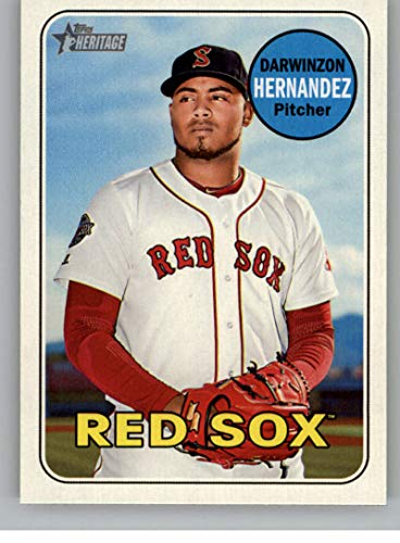 2018 Topps Heritage Minor League #173 Darwinzon Hernandez Salem Red Sox Baseball Card