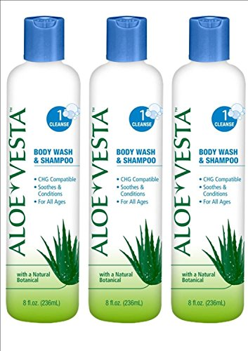 Mckesson Shampoo and Body Wash Aloe Vesta Bottle Scented (Squeeze Bottle 8 oz.) 48 Pack by McKesson