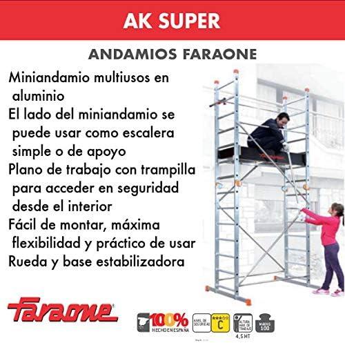 ANDAMIO AK SUPER(7+7peldaños). FARAONE. LCS: Amazon.es: Bricolaje y herramientas