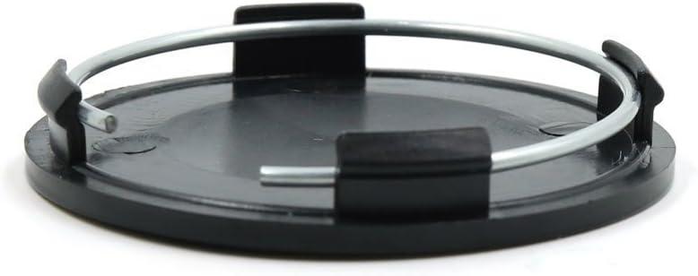 RONSHIN Auto Accessories 4pcs Black 63mm Diameter Wheel Center Hub Cap Cover Guard for Car Auto