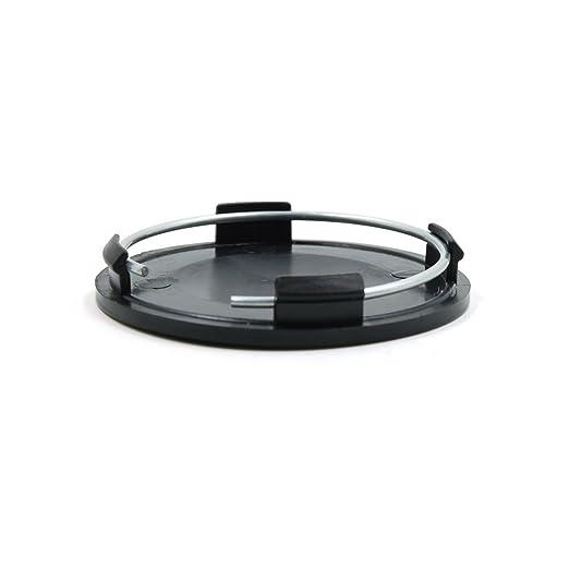 Leoie 4pcs Black 63mm Diameter Wheel Center Hub Cap Cover Guard for Car Auto