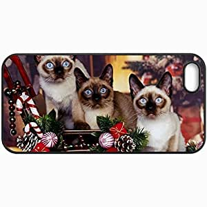 Customized Cellphone Case Back Cover For iPhone 5 5S, Protective Hardshell Case Personalized Cat Black