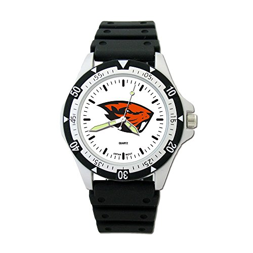 Jay Seiler Oregon State UNIV Option Sport Watch with PU Rubber Strap, ()