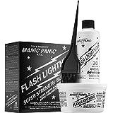 Manic Panic Flash Lightning Hair Bleach Kit - 30 Volume Cream Developer - Hair Lightener Kit for Light, Medium Or Dark Brown
