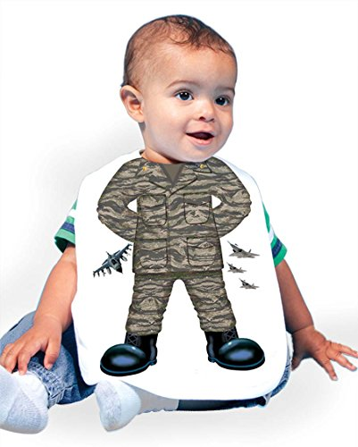 Just Add A Kid Baby Boy's Air Force Tiger 190 Baby Bib 0-6 Months White (Air Force Bib)