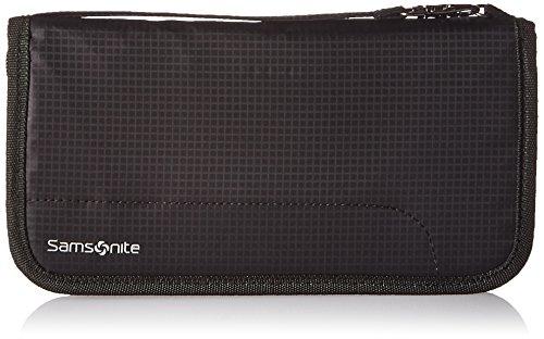 Samsonite RFID Zip Close Travel Wallet, Black