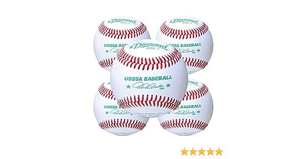 Dozen Case 3 Diamond Sports Rods Baseballs Leather DOL-1 USSSA Three