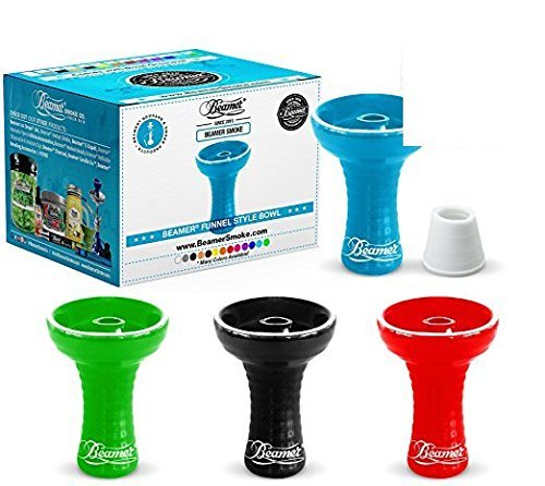 U Pick Color. Large Beamer Hookah Funnel Bowl, Bowl Grommet, Limited Edition Beamer Sticker. Comes in Bubble Wrapped Box (Black)