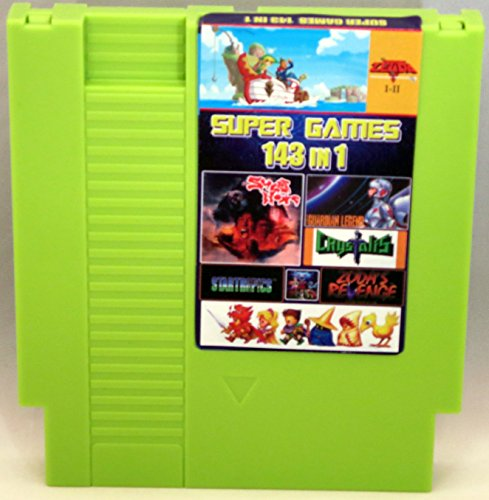 143 in 1 NES Cartridge with Battery for Saving Games - Zelda, Super Mario Bros 1 2 3, Tecmo Super Bowl, Final Fantasy 1 2 3, Kid Icarus - Contra Nintendo Nes Game