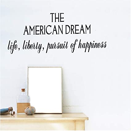 Amazon Kodioe Quote Mirror Decal Quotes Vinyl Wall Decals The Stunning Life Liberty And The Pursuit Of Happiness Quote