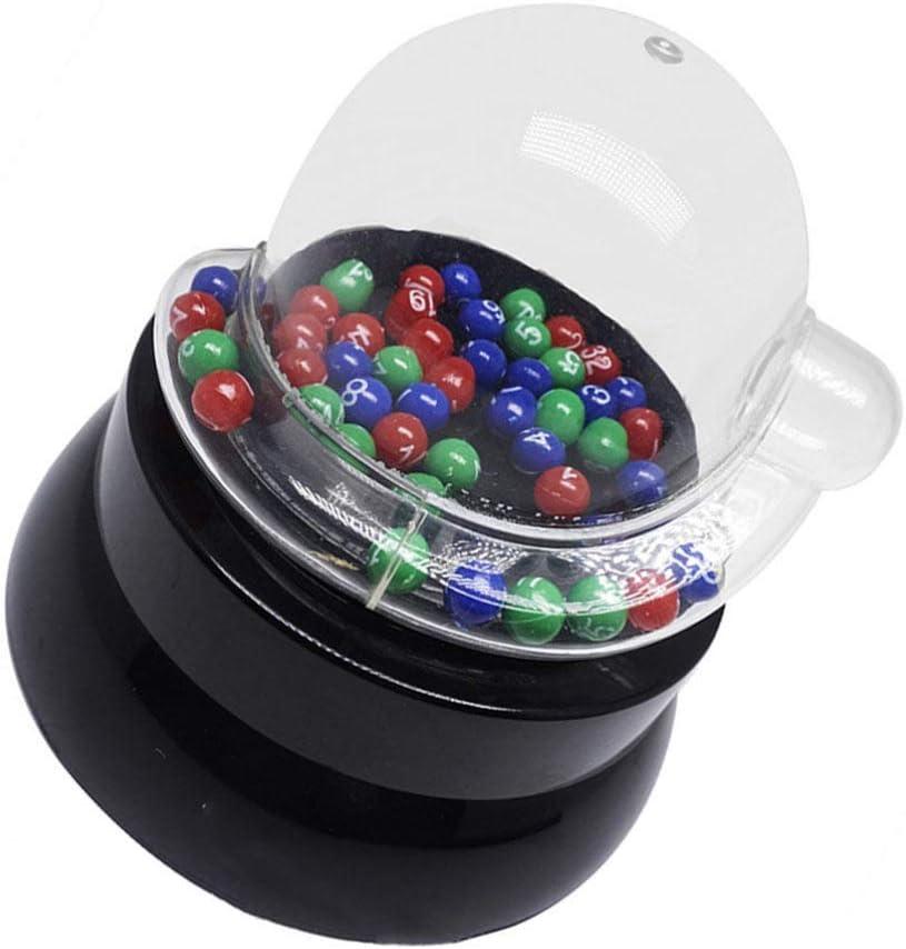NUOBESTY Batido Eléctrico Máquina de Bolas de La Suerte Máquina de Garras Dispensador de Bolas Números Colores Máquina de Chicles Mini Máquina Expendedora de Juguetes para Niños Regalos