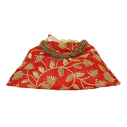 Polti main Sac main à Superbe Broderie Rouge femme Sac pour à Attrayant Colured Collection gP4q6T