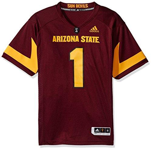 - adidas NCAA Arizona State Sun Devils Adult Men Premier Football Jersey, Large, Maroon
