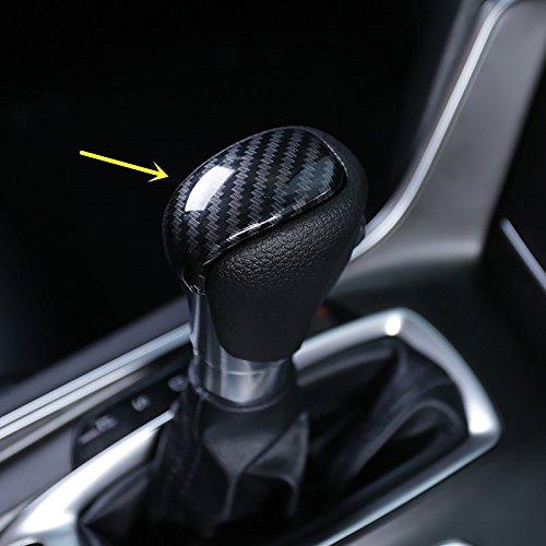 Carbon Fiber Print Interior Trim Air Vent Outlet Steering Wheel Gear Shift Knob for Honda Accord 10th 2018 (Gear Shift Knob Trim)