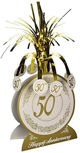 (3 X 50th Anniversary Centerpiece Party Accessory (1 count))
