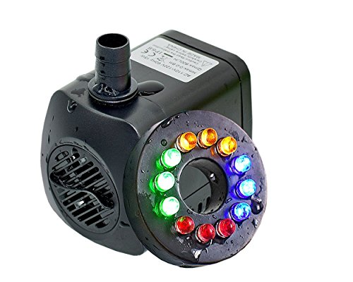 iBuy365 15w 110v 800L/H Electric Submersible Water Pump with 12 Colorful LED for Aquarium Pond Fountain Fish Tank Water Hydroponic by iBuy365