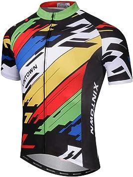 SXSHUN Hombres Maillot de Ciclismo Camiseta de Manga Corta de ...