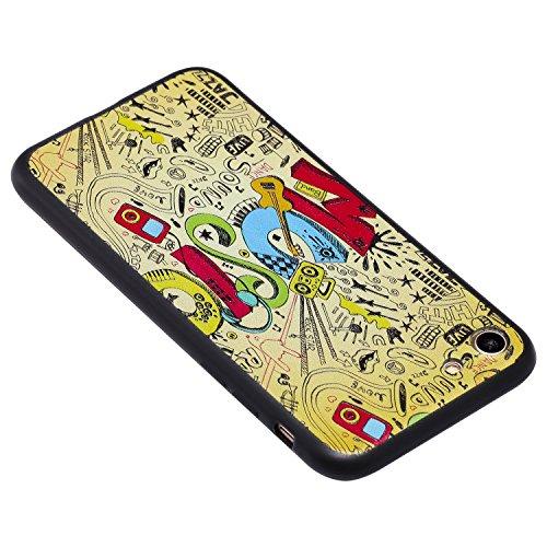 Coque iPhone 8 3D Musique dynamique Premium Gel TPU Souple Silicone Protection Housse Arrière Étui Pour Apple iPhone 8 + Deux cadeau