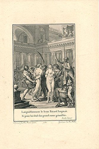 Soldiers capture forbidden nude lovers naked woman 1789 nice old antique - Nude Nice Ladies