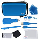 ButterFox 12-in-1 Accessory Travel Pack / Case For New Nintendo 3DS XL Console: Blue (New Nintendo 3DS XL - 2015)