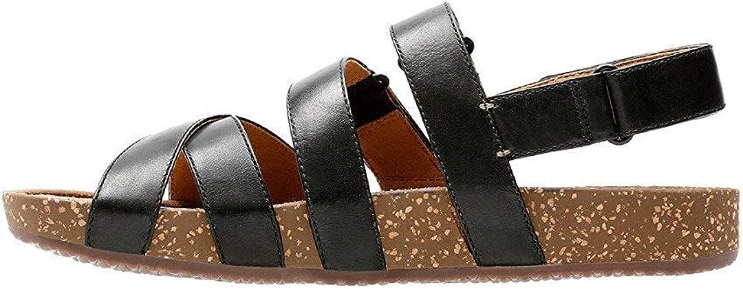 Size 5.5 CLARKS Womens Rosilla Keene Open Toe Casual Gladiator Sandals Black