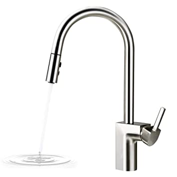 Smart Pull Down Sense Touchless Kitchen Sink Faucet One Handle High