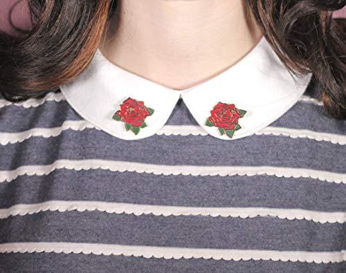 Red Rose hard enamel collar pins, flower pin, Pin badge, Lapel Pin, Pin badges, brooch, flair, pin game, hat pin, cute pin, gift for her (Flair Badges)