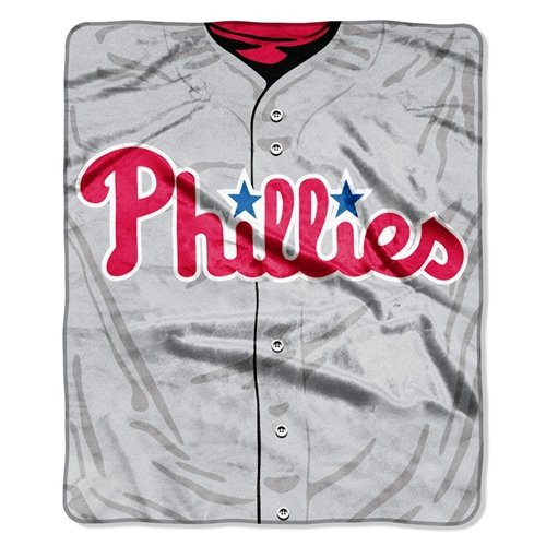 MLB Philadelphia Phillies Jersey Plush Raschel Throw, 50