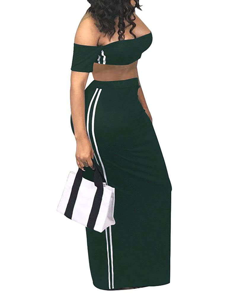 20bd850cd1 Crop Top And Long Skirt Casual
