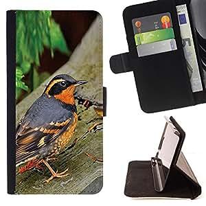 - Queen Pattern FOR Sony Xperia Z2 D6502 /La identificaci????n del cr????dito ranuras para tarjetas tir????n de la caja Cartera de cuero cubie - spring nature bird trees summer or