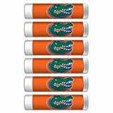 $2.00 OFF Florida Gators Smooth Mint Lip Balm 6-PACK with SPF 15, Beeswax, Coconut Oil, Aloe Vera. NCAA Gifts for Men and Women on Mother's Day, Father's Day, Stocking Stuffers.