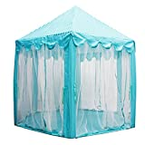 LEOSO Blue Princess/Prince Castle Play Tent Fairy Princess Castle Tent Extra Large Room 55.553