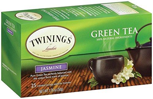 Twinings Jasmine Bagged Green Tea, 25 Count