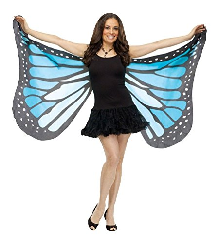 Fun World Women's Soft Butterfly Wings Costume Accessory, blue -