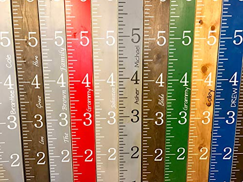 - CELYCASY Personalized Growth Chart Ruler Hand Painted Giant Kids Wooden