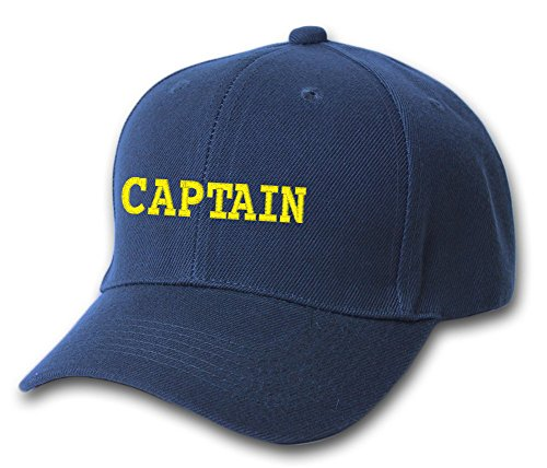 Captain Boat Ship Sailor Embroidered Hat 4 Colors - Navy - OSFA Adjustable -