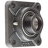 "Hub City FB220DRWX1-1/4S Flange Block Mounted Bearing, 4 Bolt, Normal Duty, Relube, Eccentric Locking Collar, Wide Inner Race, Ductile Housing, 1-1/4"" Bore, 1.972"" Length Through Bore, 3.25"" Mounting Hole Spacing"