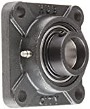 """Hub City FB220DRWX1-1/4S Flange Block Mounted Bearing, 4 Bolt, Normal Duty, Relube, Eccentric Locking Collar, Wide Inner Race, Ductile Housing, 1-1/4"""" Bore, 1.972"""" Length Through Bore, 3.25"""" Mounting Hole Spacing"""