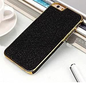ZL High Grade Leather Glitter Stickers Side PU Back Cover for iPhone 6(Assorted Colors) , Black