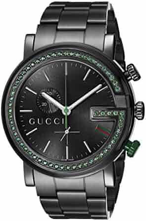 Gucci G-Chrono Black PVD 60 Green Topaz Case Unisex Watch(Model:YA101349)