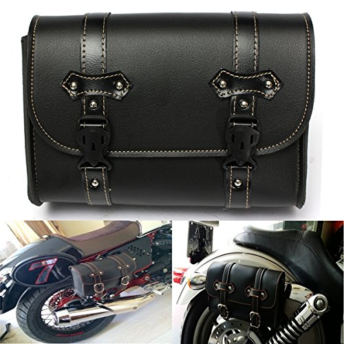 BephaMart Motorcycle Saddle Leather Bag Storage Tool Pouch For Harley Davidson Shipped and Sold by BephaMart by BephaMart (Image #1)