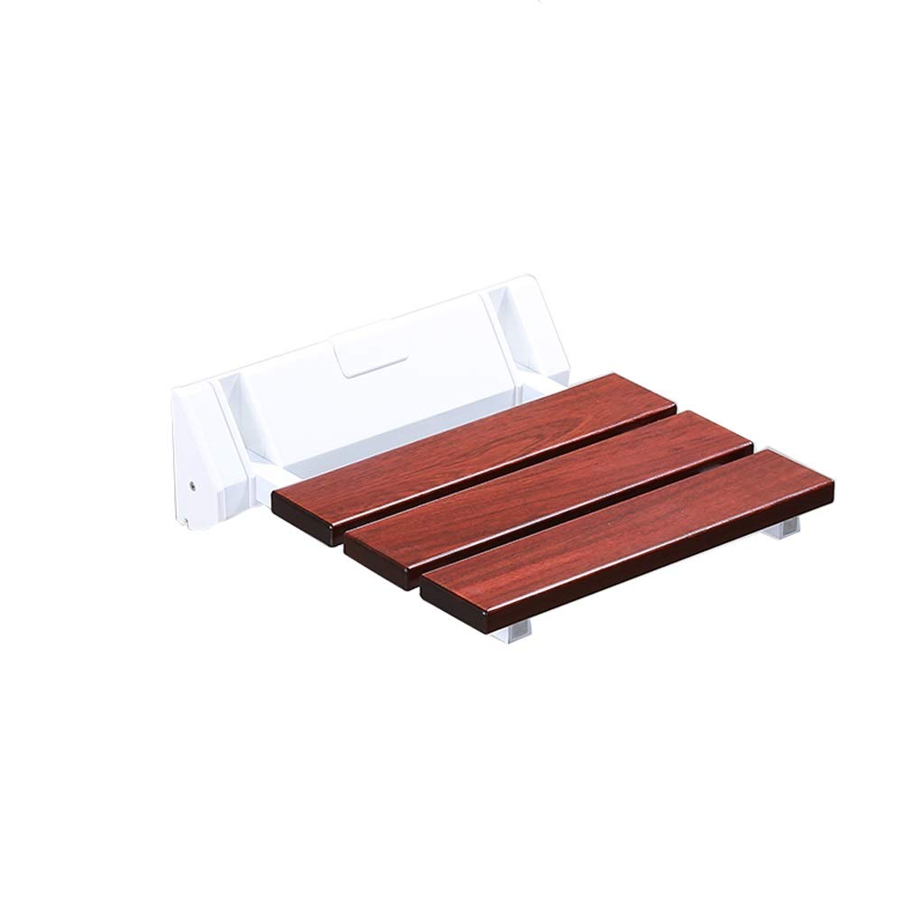 BEAUTY--shower stool Solid Wood Wall-Mounted Fold Shower Seat Bathroom Bath Seat Suitable for The Elderly and Disabled People with Limited Mobility