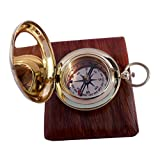 Handmade Brass Push Button Direction Compass POCKET COMPASS