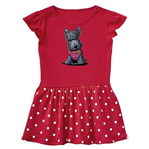 Scottie Dog Dress - inktastic - Scottie Dog Infant Dress 12 Months Red and Polka Dot - KiniArt 2e33