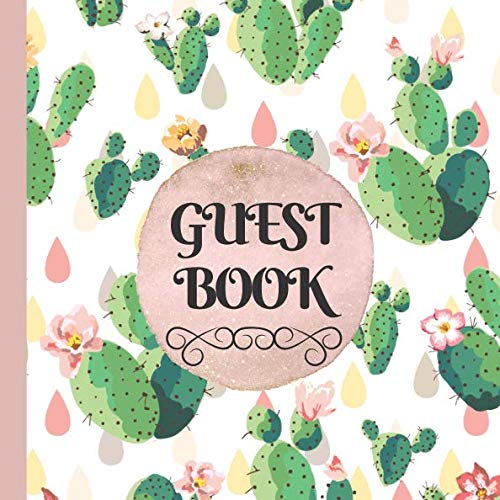 (Guest Book: Cactus Bridal Shower Guest Book Includes Gift Tracker and Picture Pages to Create a Bridal Shower Memory Keepsake That Lasts Forever )
