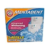 Arm & Hammer Mentadent Advanced Whitening TWIN Refills 5.25 Oz each (Pack of 3)