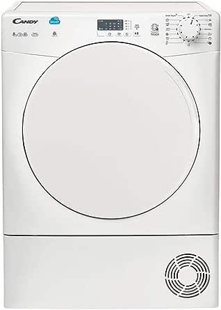 Candy CS C8LF-S - Secadora de condensación 8Kgs, 15 programas, NFC, puerta XXL, display LED, certificado Woolmark, , clase BC, color blanco