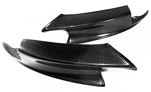 Real Carbon Fiber Front Bumper Lip Splitters for BMW 2007-2013 E90 E92 E93 M3 Sedan/Coupe/Convertible ()